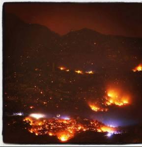Val susa incendi